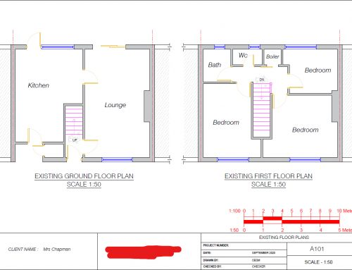Architectural plans for a loft conversion in Altrincham.